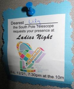Invitation to Ladies Night at the SPT.