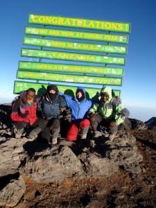 Summit of Mt. Kilimanjaro.