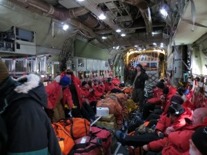 Flying to the South Pole in a C-130.