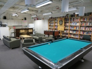 The Game Room--one of the popular areas to relax and socialize after work.