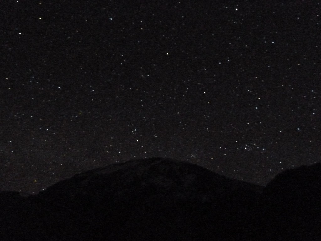 Summit and stars above.