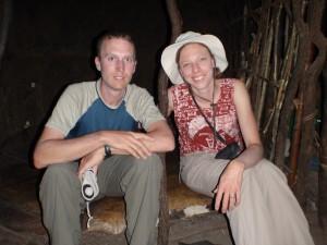 Inside the Maasai Hut.