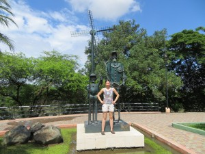 Sancho Panza, me, and Don Quijote