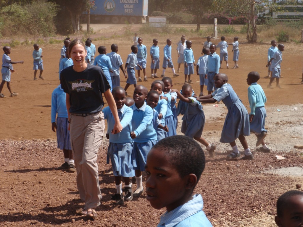 Playing with Tanzanian Kids