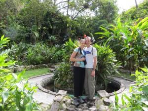 Us in the Botanical Garden in Loja.