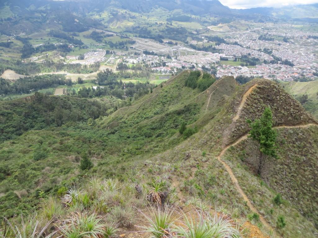 View of Loja from the ridge.