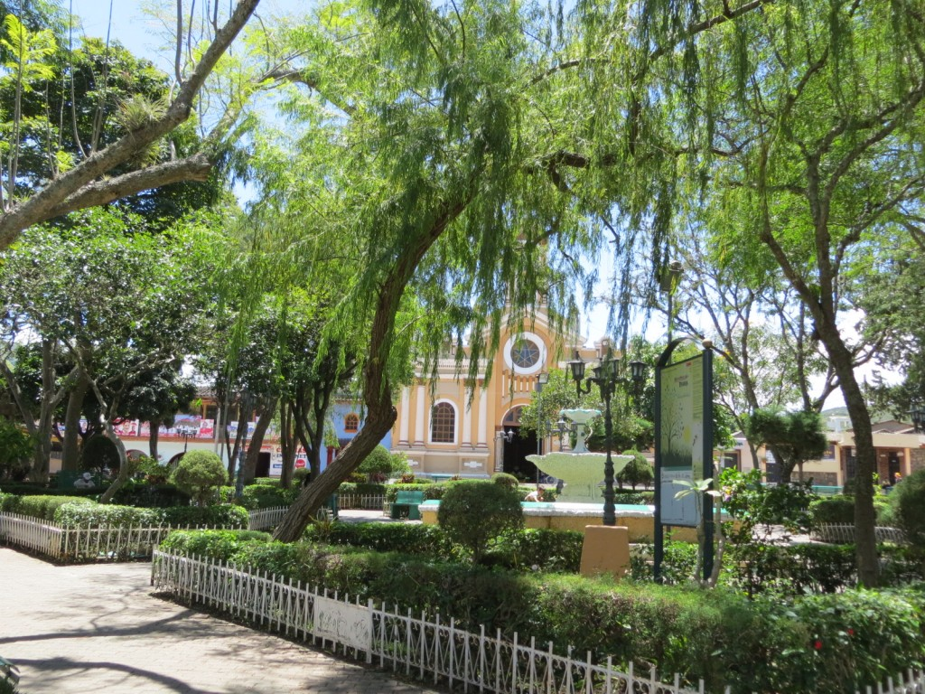 The plaza of Vilcabamba.
