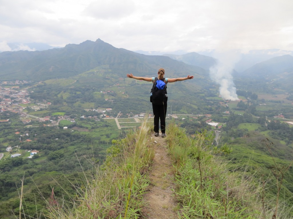 Taking in the magnificent view of the Vilcabamba Valley.
