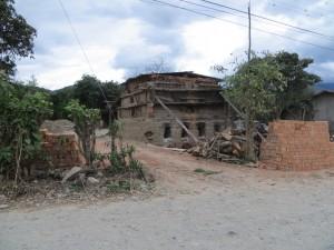 A brick factory.