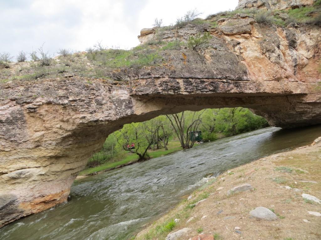 The natural bridge.