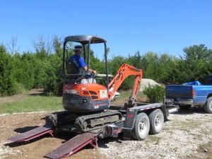 Unloading Mini Excavator