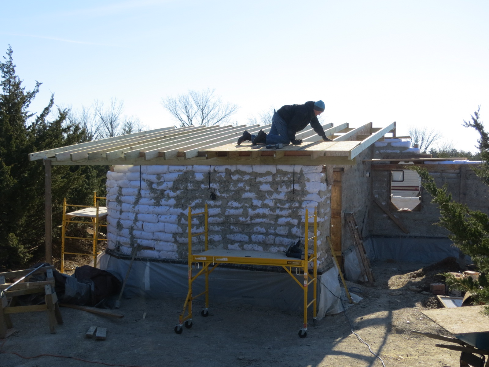 0a1790712a Earthbag House Project: Where We Left Off for the Winter - Lily Ann ...