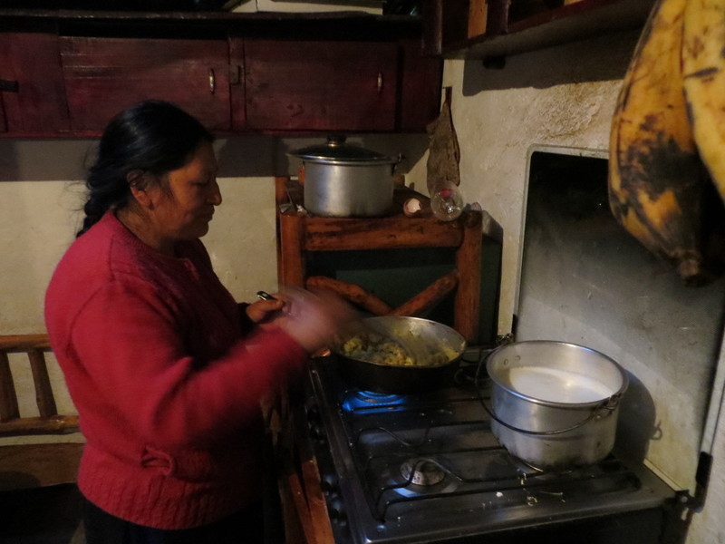 Saraguro woman cooking