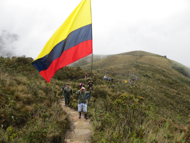 Ecuadorian Flag bearer
