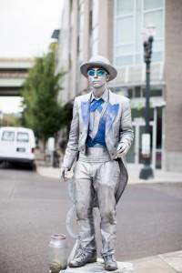 Human Statue at WDS