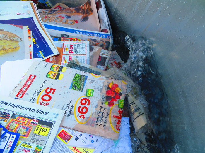 Soaking Newspapers