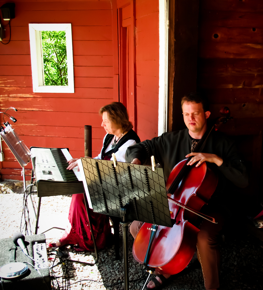 Some of the wedding musicians: Elizabeth the pianist and John the cellist.