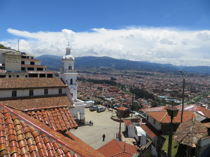 Looking over the city from one of Cuenca's hillsides.
