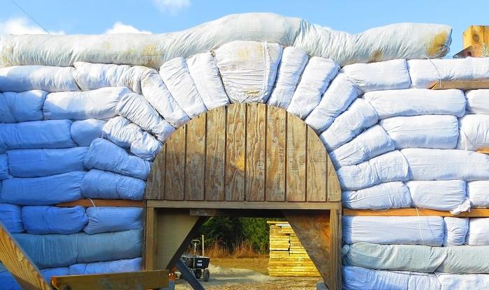 Earthbag Arch Header
