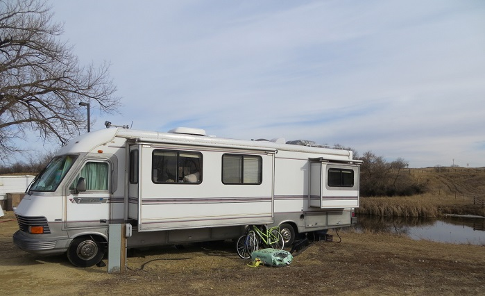 Living at Camp on the Heart in Dickinson, ND.