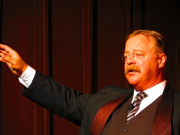 Teddy Roosevelt impersonator.