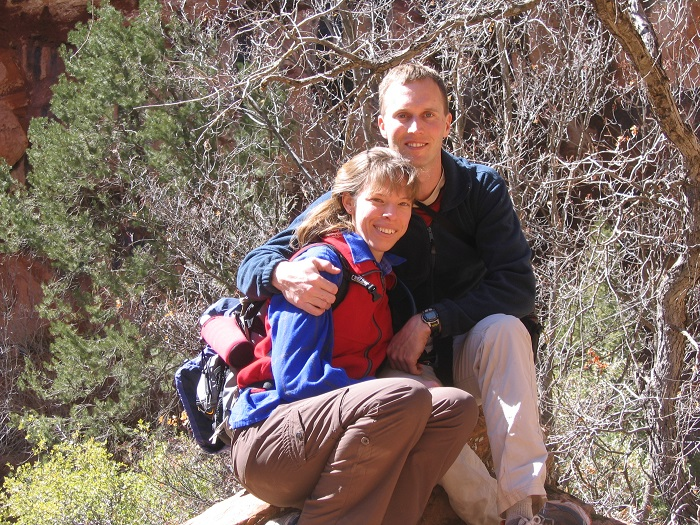Keith and Lily at Zion NP