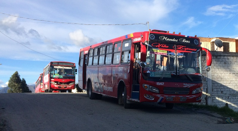 End of Loja Bus Line 5